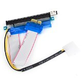 Powered Riser Cable television New 1x to 16x Powered PCI-E PCI Express Socket Riser Flexible Extension Adapter