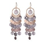 Girl Age Womens Gorgeous Multilayer Round Plates Earrings