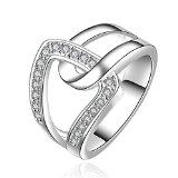 SunIfSnow Beautifully Neutral Popular Classic and Elegant Interlocking Ring 7