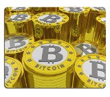 Liili Mouse Pad Natural Rubber Mousepad bitcoins background Bitcoin is a new virtual money for internet trading and business IMAGE ID 19084175