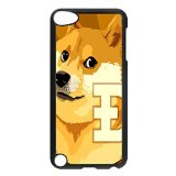 Dogecoin Custom Fashion Image Case Shell Cover for IPod Touch 5th black durable case
