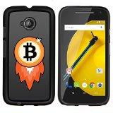 /Skull Market/ - Bitcoin Chip Money Rocket For Motorola Moto E 2nd Generation - Hand Painted Custom Luxury Cover Case -